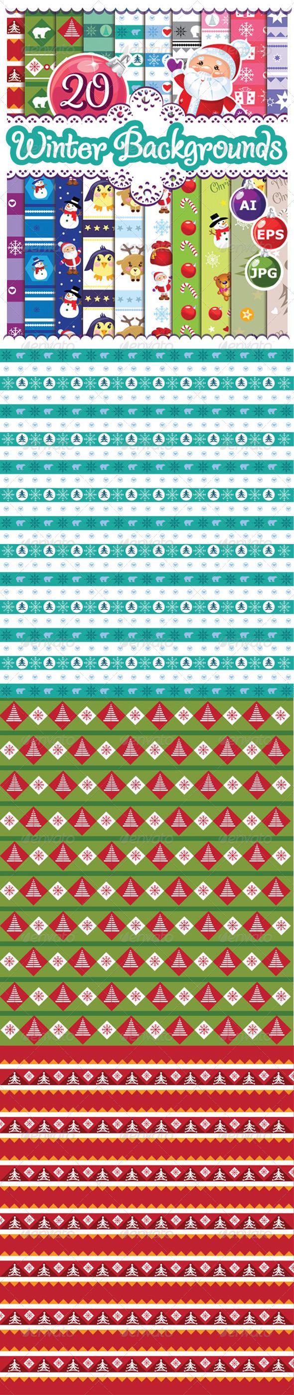 Winter Backgrounds - Backgrounds Decorative