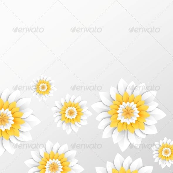 Paper Flowers Postcard. - Weddings Seasons/Holidays