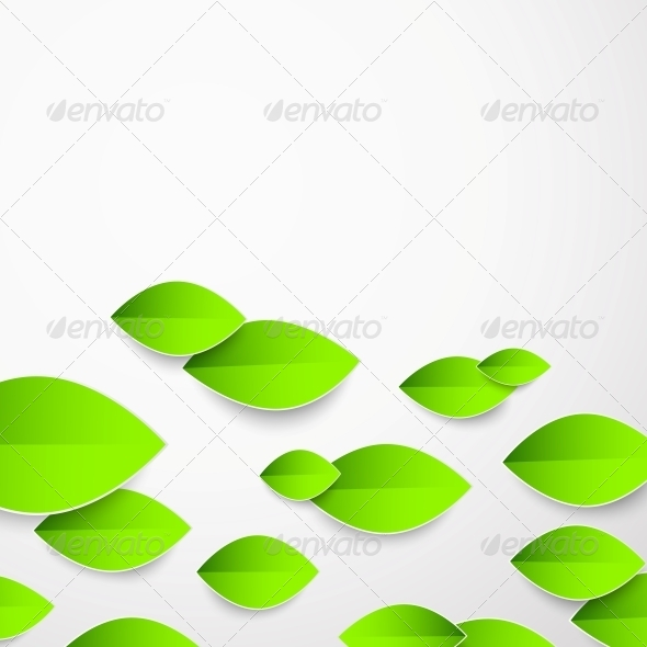 Background with Green Flower. - Organic Objects Objects