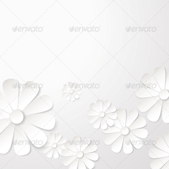 White Paper Flower Postcard. - Landscapes Nature
