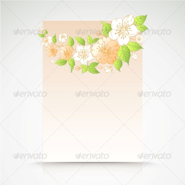 Background of Cherry Blossoms on Pink. - Backgrounds Decorative