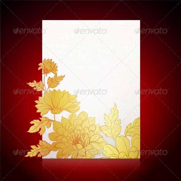 Card Background from Chrysanthemums - Flowers & Plants Nature