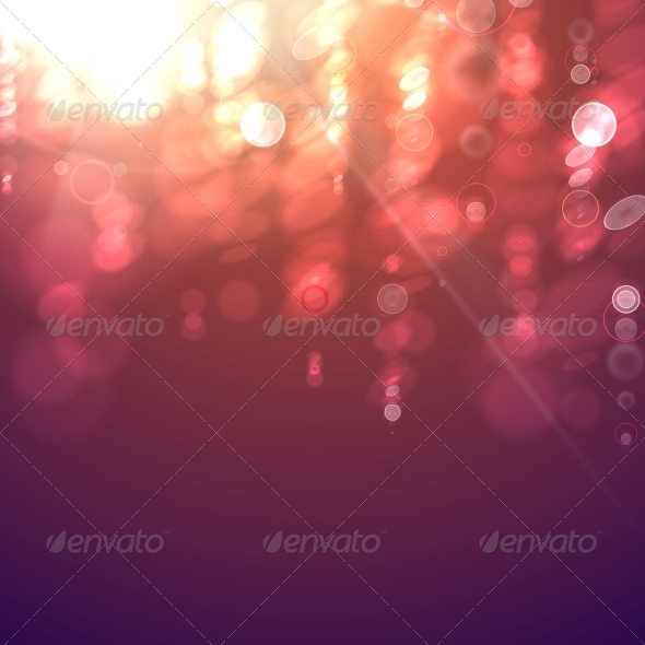 Bokeh Light Vintage Background. - Abstract Conceptual