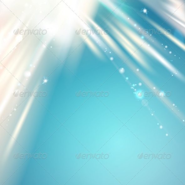 Blue Light over Sky, Abstract Background. - New Year Seasons/Holidays