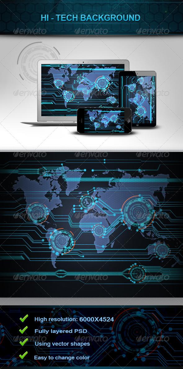 Hi - Tech Background v2 - Tech / Futuristic Backgrounds