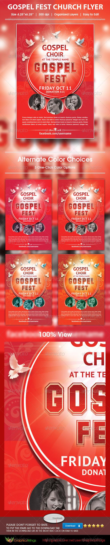 Gospel Fest Church Flyer Template - Church Flyers