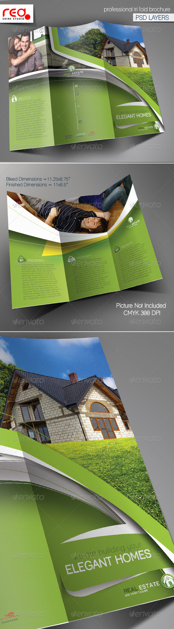 Real Estate Trifold Brochure Template - 2 - Catalogs Brochures