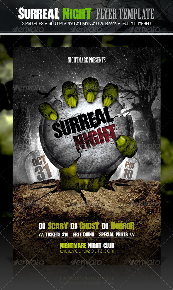 Surreal Night Flyer Template - Events Flyers