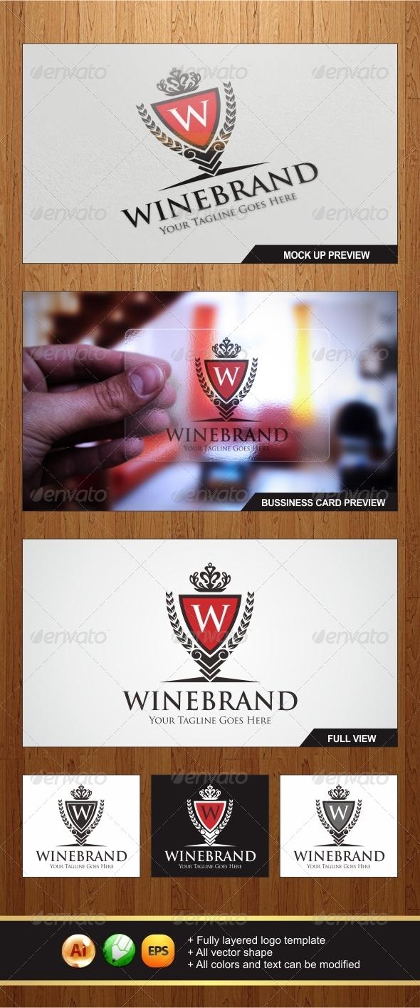 Wine Brand Logo - Symbols Logo Templates