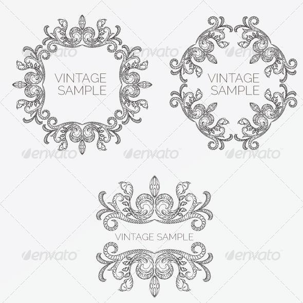 Vintage Frame 51 - Decorative Vectors