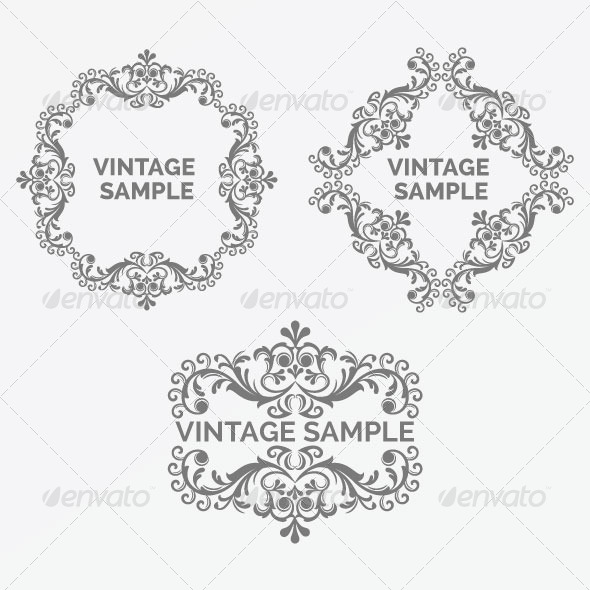Vintage Frame 55 - Decorative Vectors