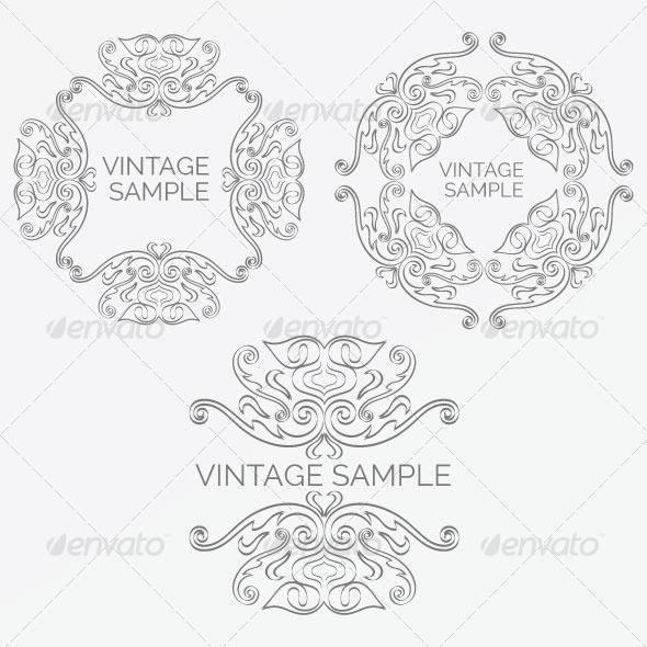 Vintage Frame 56 - Decorative Vectors