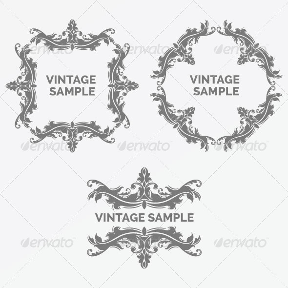 Vintage Frame 57 - Decorative Vectors