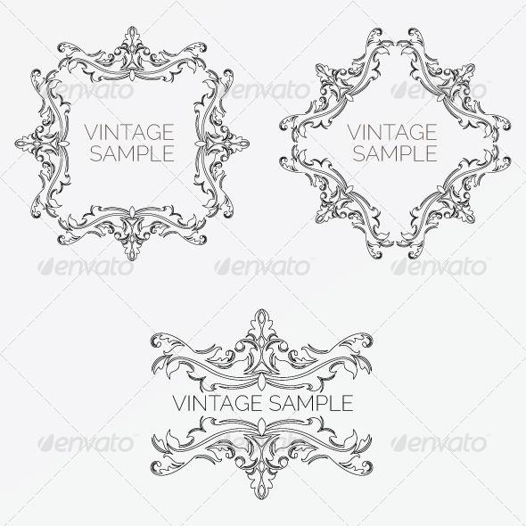 Vintage Frame 58 - Decorative Vectors