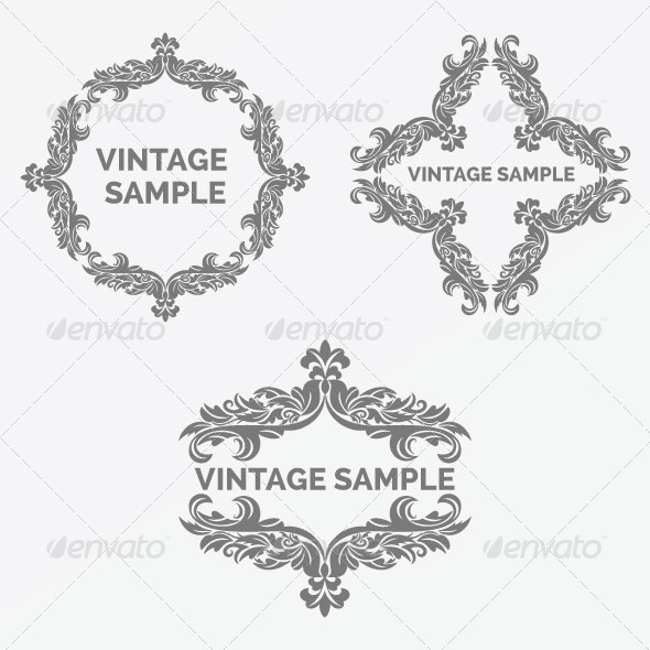 Vintage Frame 60 - Decorative Vectors