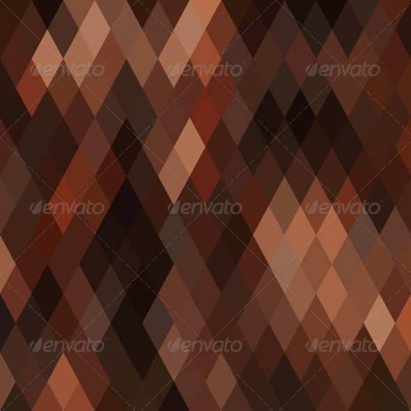 Square Brown Mosaic Background - Backgrounds Decorative