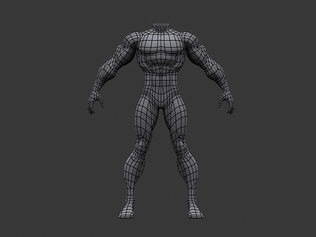 Human Athletic Male Body Base Mesh By Redasaiko 3docean