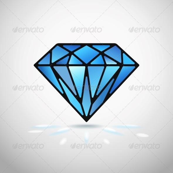 Vector Diamond - Decorative Symbols Decorative