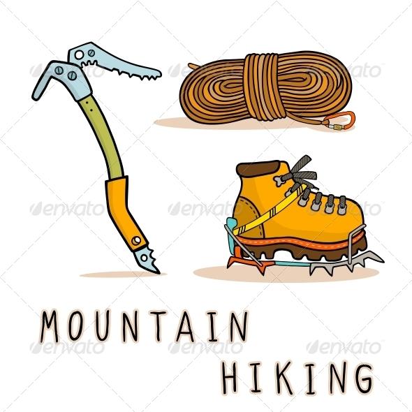 Mountain Hiking - Decorative Symbols Decorative