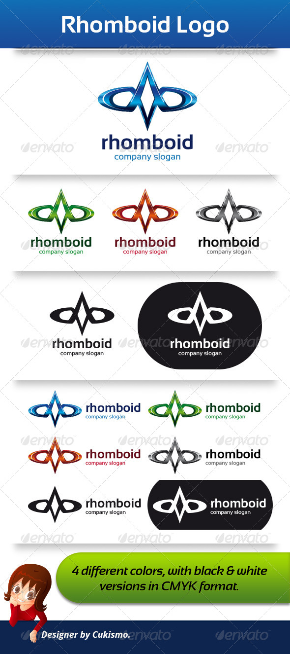 Rhomboid Logo Template - Abstract Logo Templates
