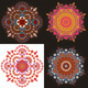 Set of Four Radial Geometric Ornaments - GraphicRiver Item for Sale
