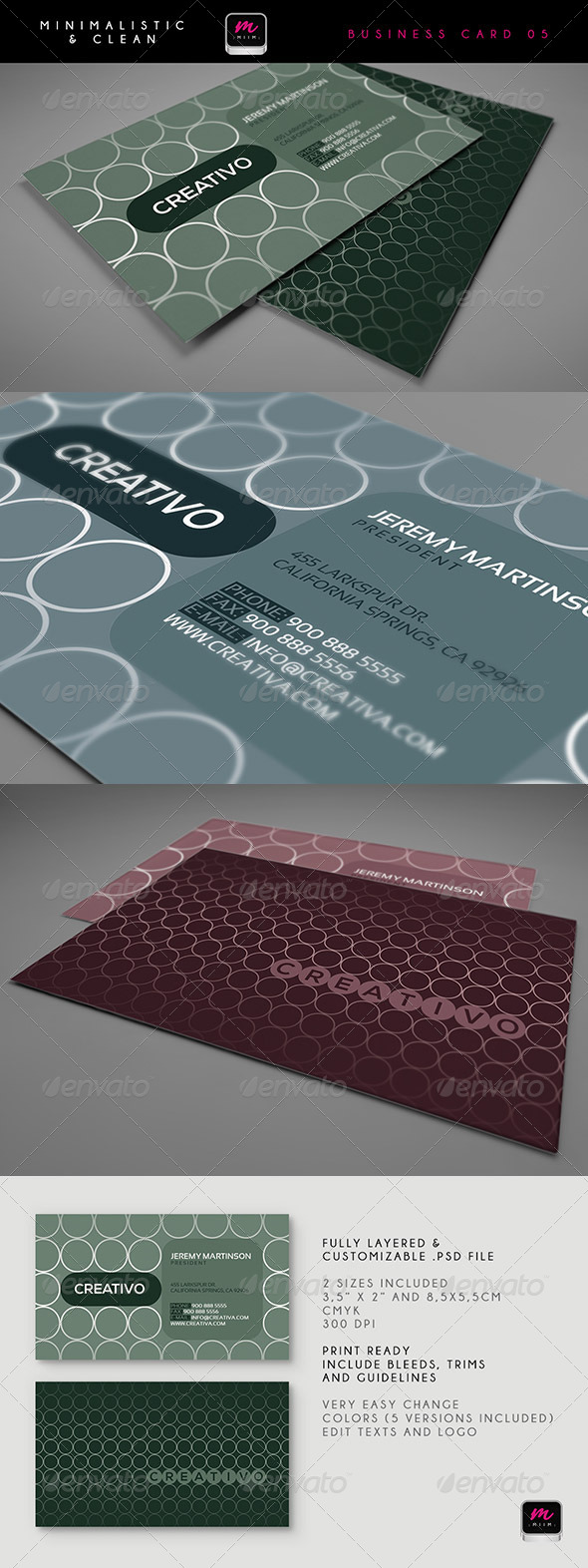 Clean Business Card Template 01 - Creative Business Cards