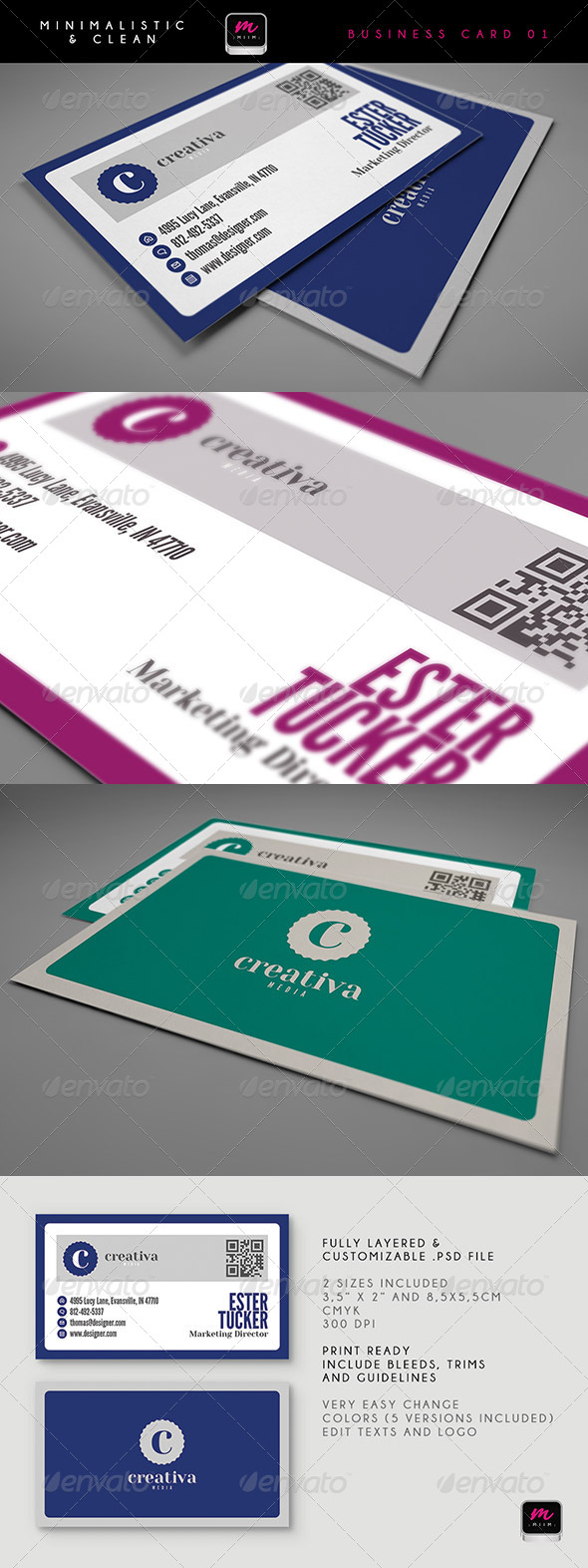 Clean Business Card Template 02 - Creative Business Cards