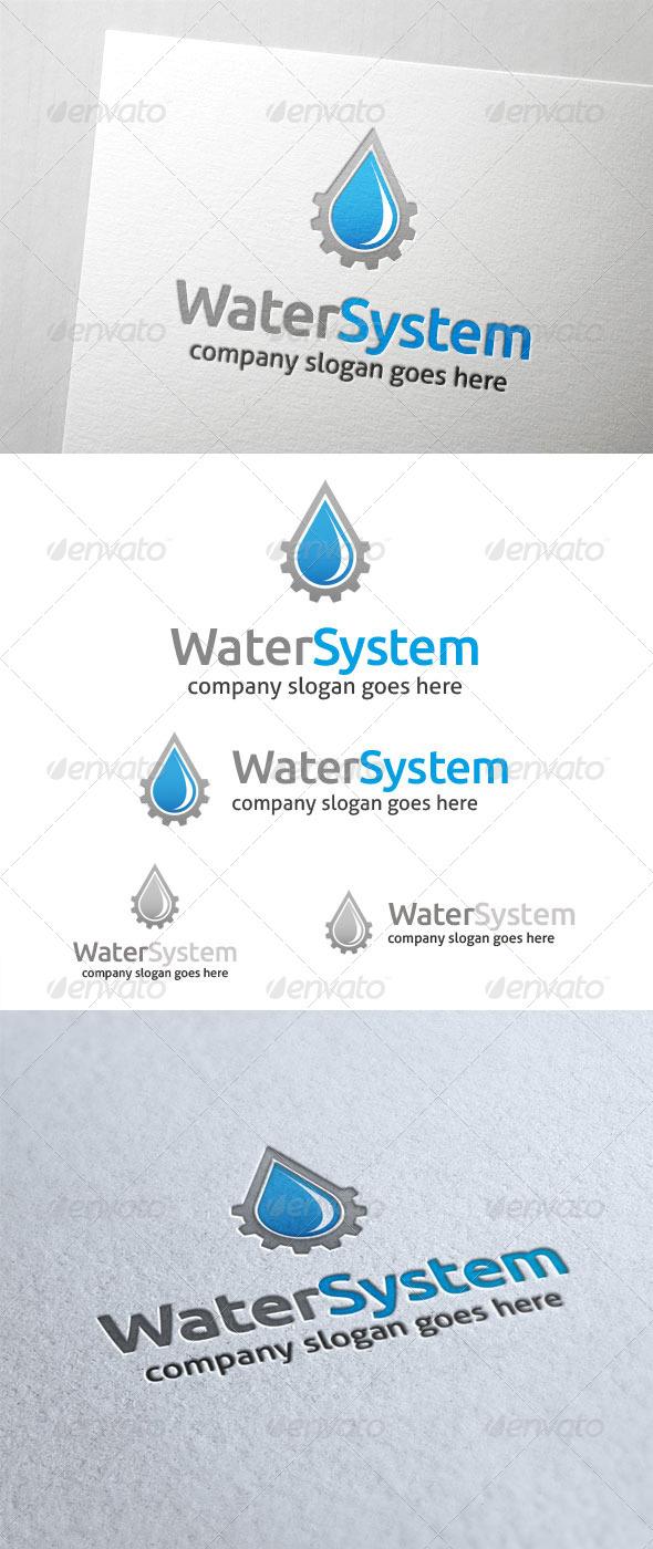 Water System Logo - Nature Logo Templates
