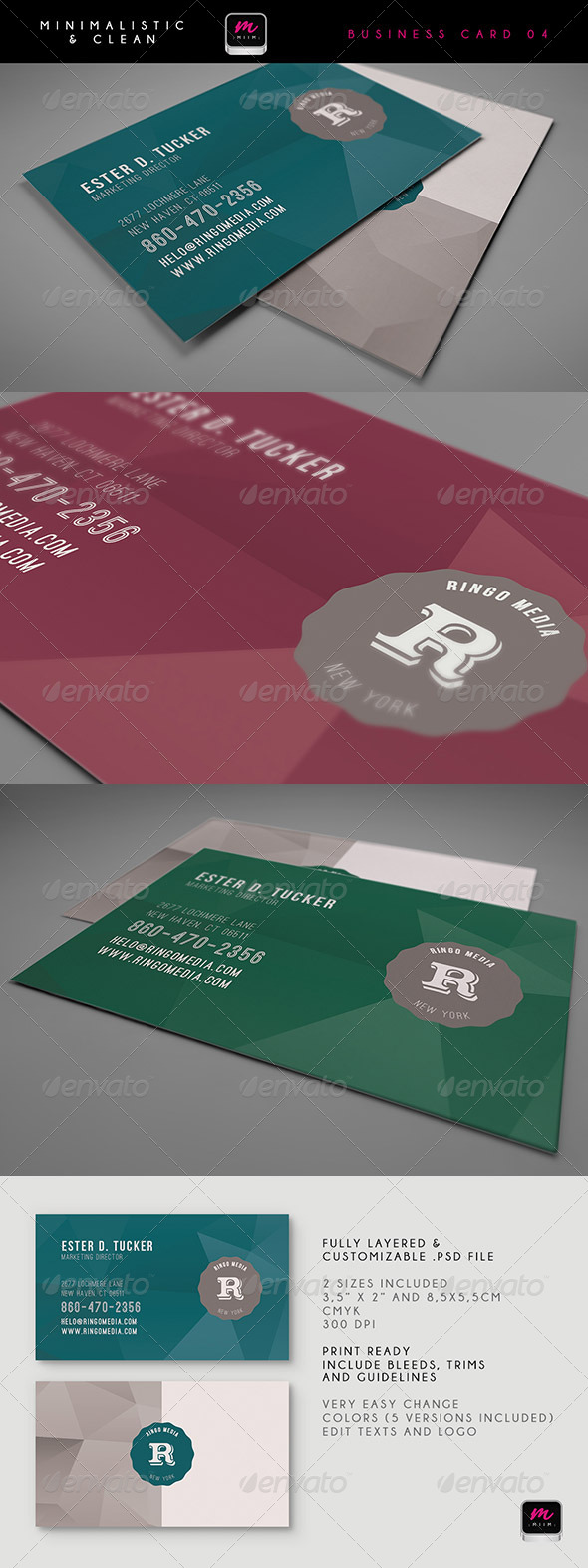 Clean Business Card Template 05 - Creative Business Cards
