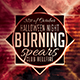 Burning Spear Minimal Flyer - GraphicRiver Item for Sale