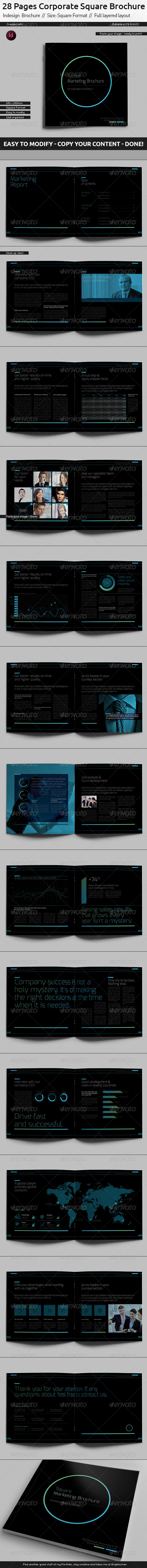 Black Company Brochure // Square Format - Corporate Brochures