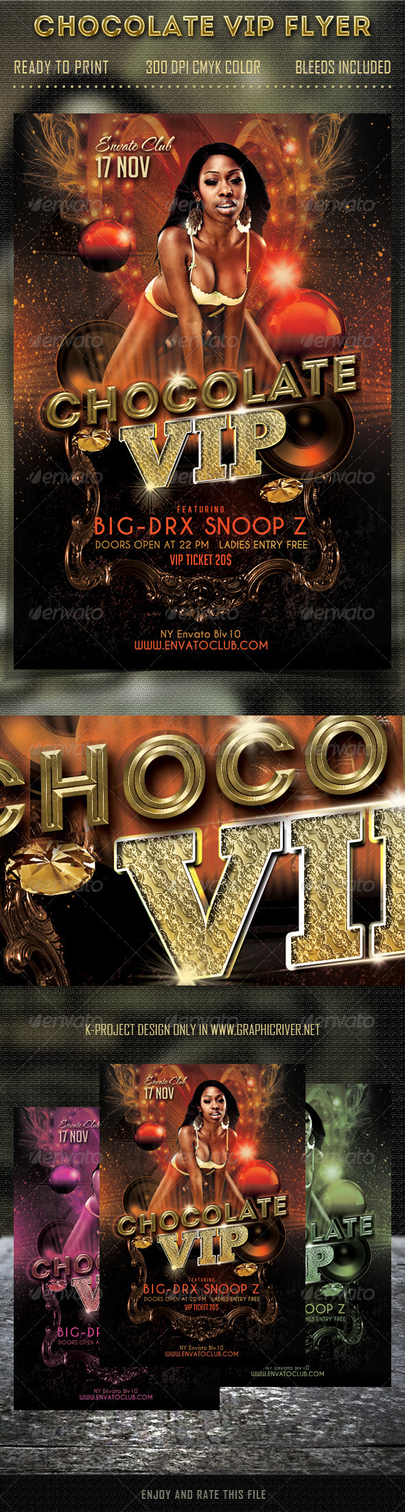 Chocolate VIP Party Flyer - Clubs & Parties Events