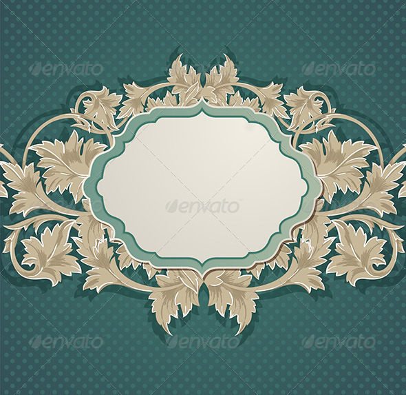 Green Vintage Background - Backgrounds Decorative
