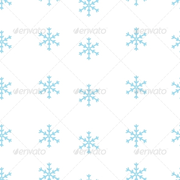 Vector Seamless Pattern of Snowflakes - Seasons Nature