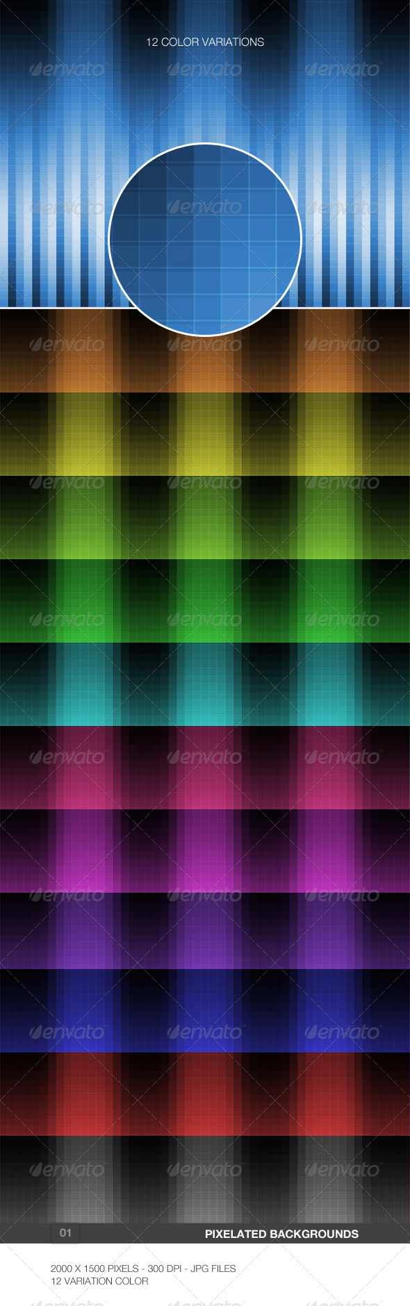 Pixelated Backgrounds - 01 - Abstract Backgrounds