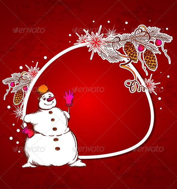 Red Christmas Vector  Background - Christmas Seasons/Holidays