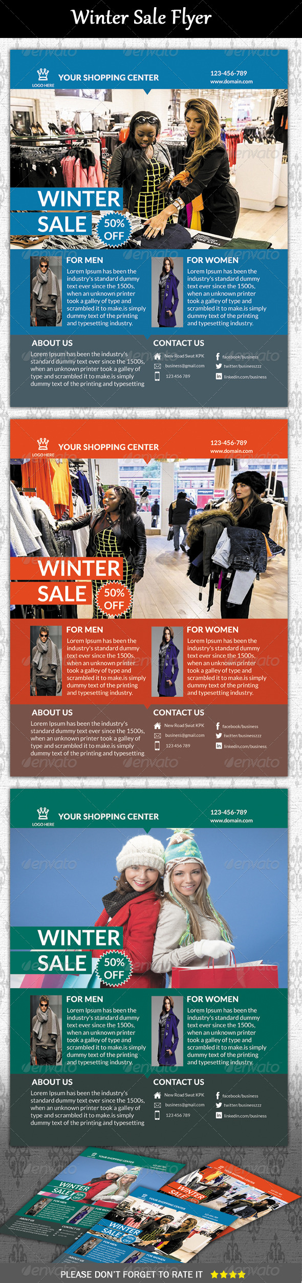 Winter Sale Flyer - Corporate Flyers