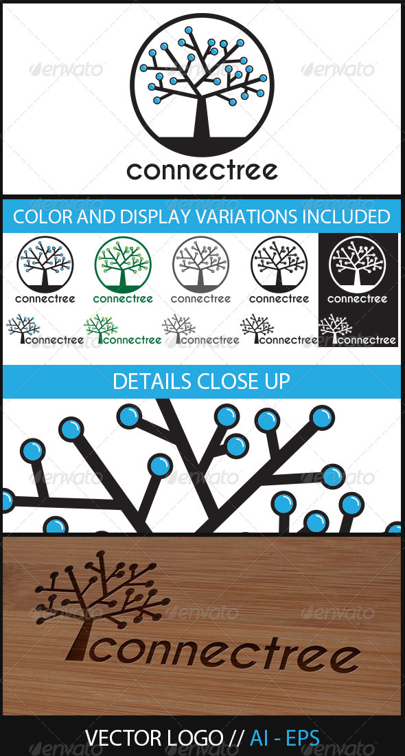 Connectree Logo - Nature Logo Templates