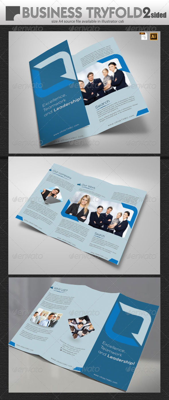 Business Tri-Fold Brochure Design - Brochures Print Templates