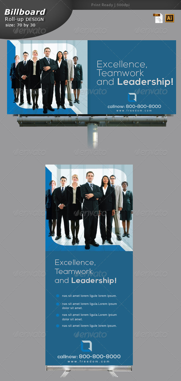 Business Billboard and Roll-up Design - Signage Print Templates