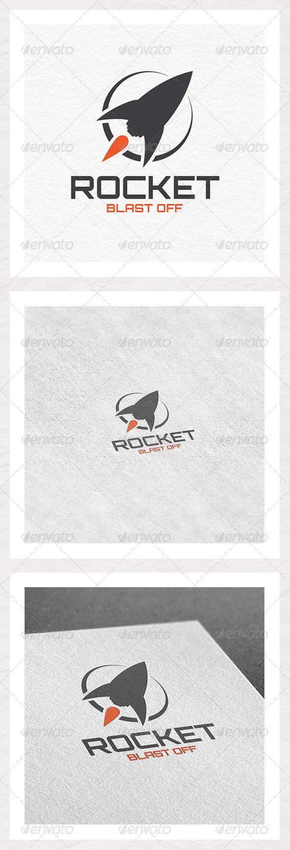 Rocket Blast Off Logo - Objects Logo Templates
