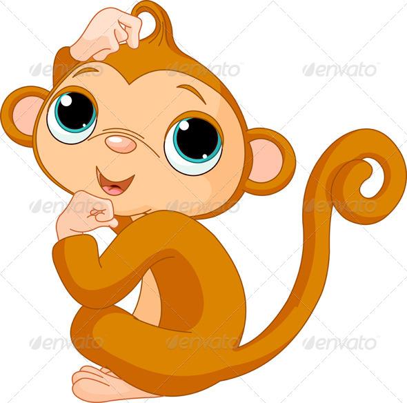 Thinking Monkey - Animals Characters