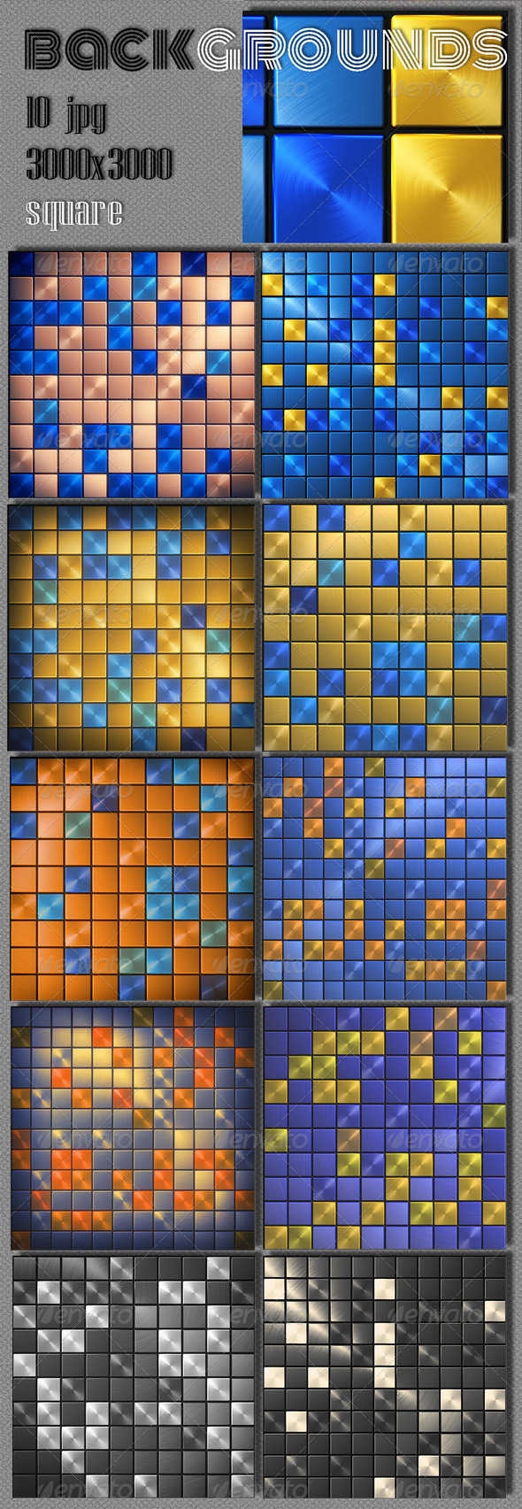 Abstract Square Background - 3D Backgrounds