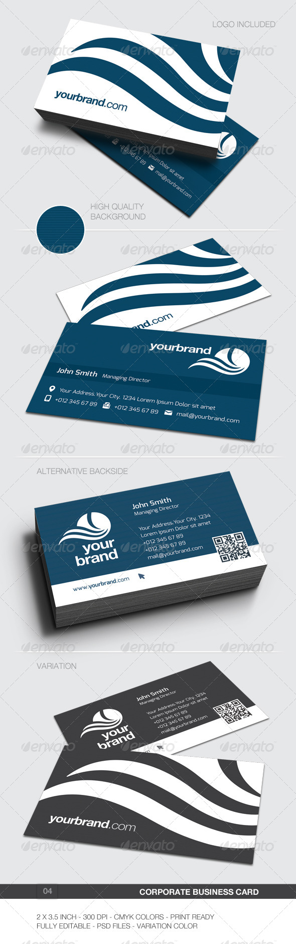Corporate Business Card - 04 - Corporate Business Cards