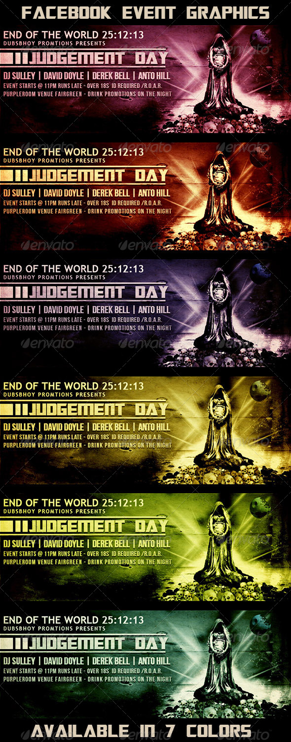 Judgement Day Facebook Event - Facebook Timeline Covers Social Media