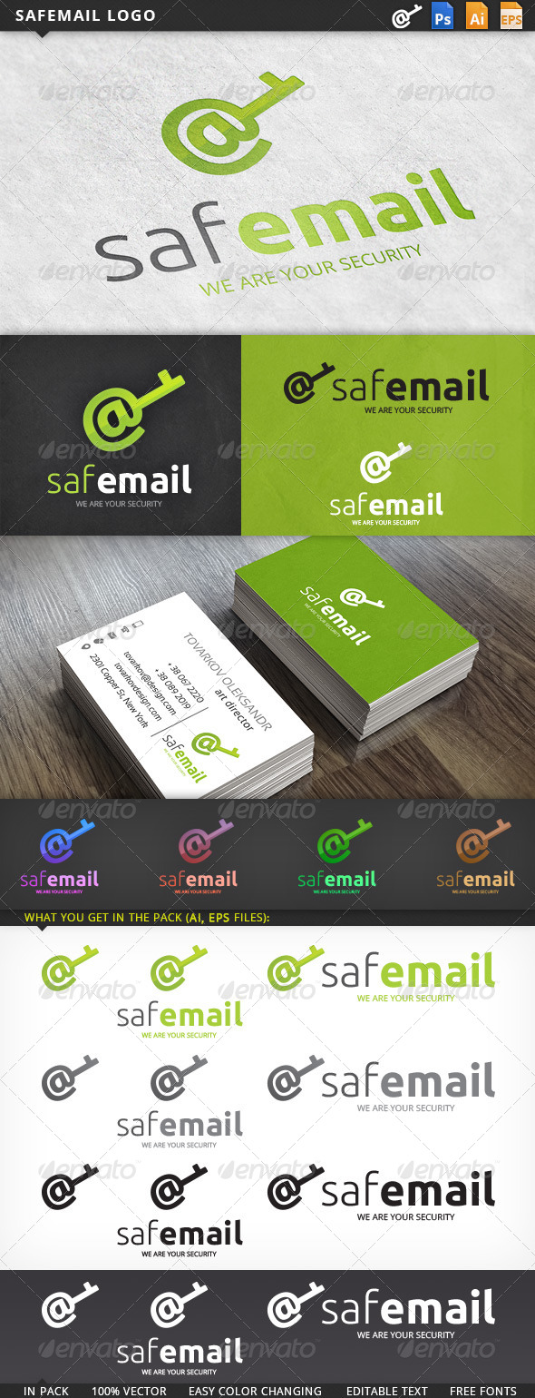 Safemail Email Logo Template - Symbols Logo Templates