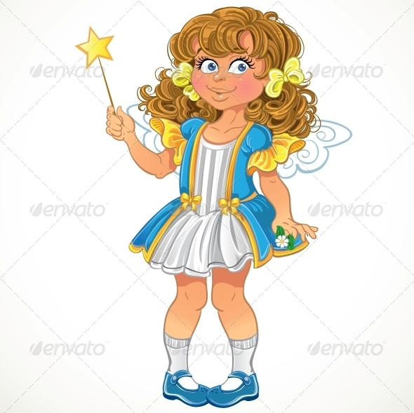 Little Girl with Magic Wand - People Characters