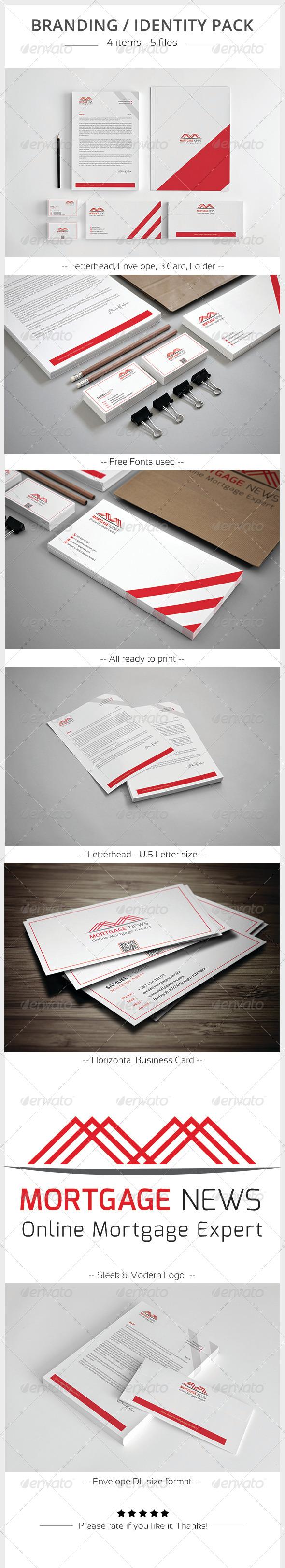 Mortgage News Corporate Identity - Stationery Print Templates