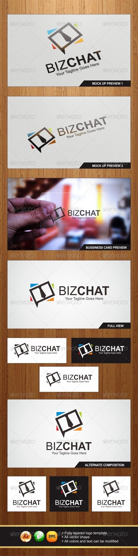 Biz Chat Logo - Symbols Logo Templates