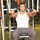Muscular Man Doing Weight Lifting Exercises - VideoHive Item for Sale
